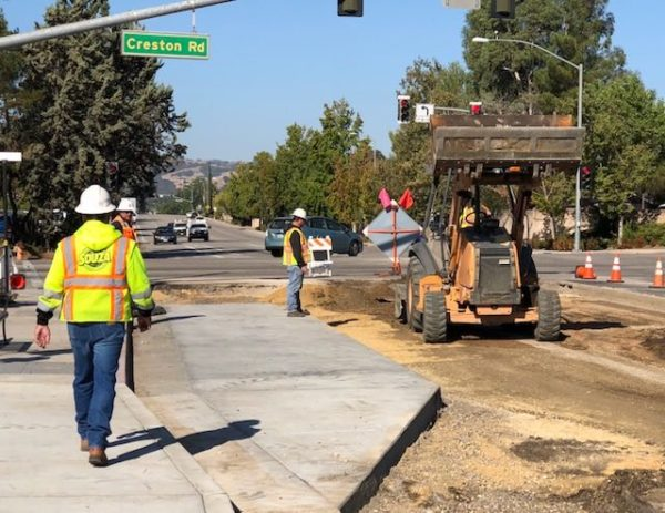 Sherwood road repaving project paso robles