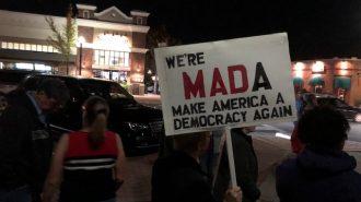 trump protest paso robles