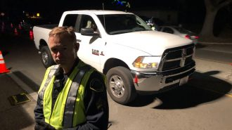 Sgt David Opheim at Sobriety Checkpoint