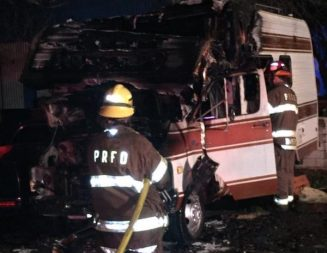 Motorhome fire reported in Paso Robles