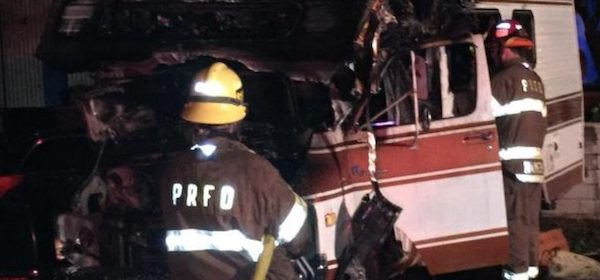 Fire Paso Robles motor home