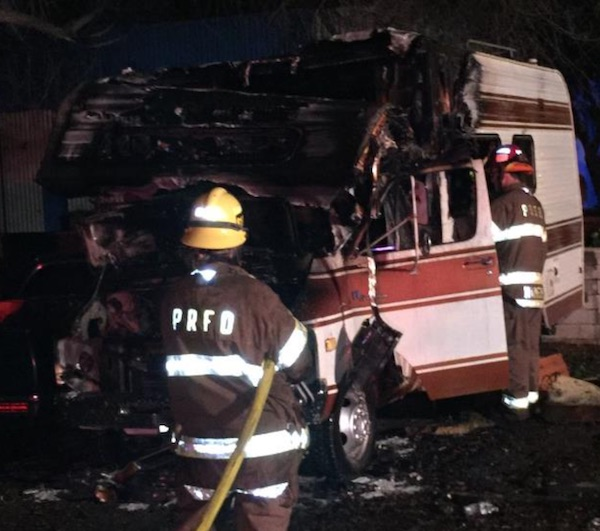 Fire destroys motorhome in Paso Robles - Paso Robles Daily ...