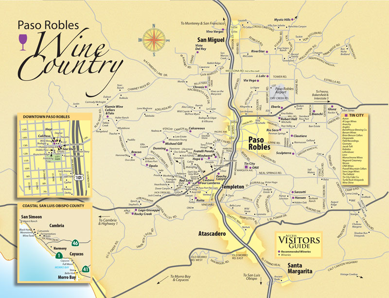 Paso Robles Wineries Map Paso Robles Wine Map 2019   Paso Robles Daily News