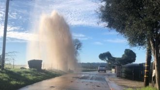 water line busts in Atascadero