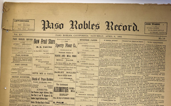 Looking Back: Paso Robles business in 1895