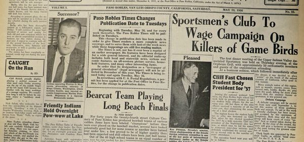 Looking Back 5-23-1936