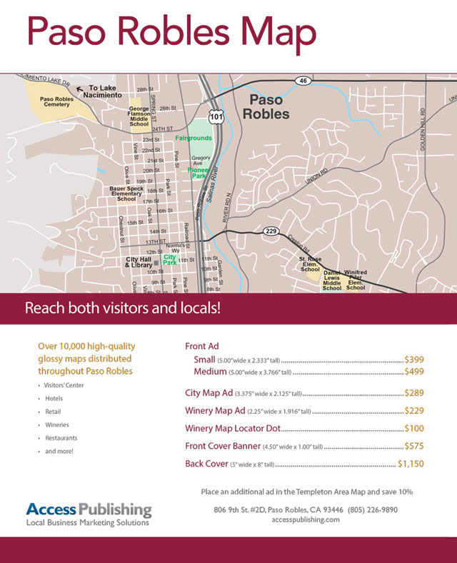 Advertise in new Paso Robles Area Map - Paso Robles Daily News on visalia downtown map, san bernardino downtown map, fremont downtown map, morgan hill downtown map, carlsbad downtown map, stockton downtown map, bakersfield downtown map, riverside downtown map, laguna beach downtown map, olympia downtown map, fresno downtown map, santa ana downtown map, burbank downtown map, lompoc downtown map, walla walla downtown map, healdsburg downtown map, buena park downtown map, temecula downtown map, monterey downtown map, san clemente downtown map,