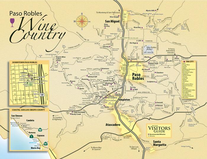 Paso Robles Wine Map