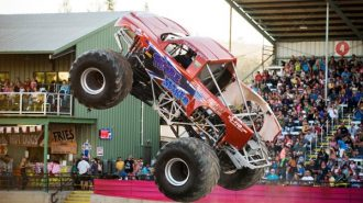 monster trucks at the mid-state fair
