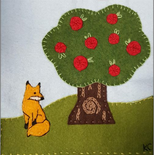 Applique an apple tree at the library Sept. 7