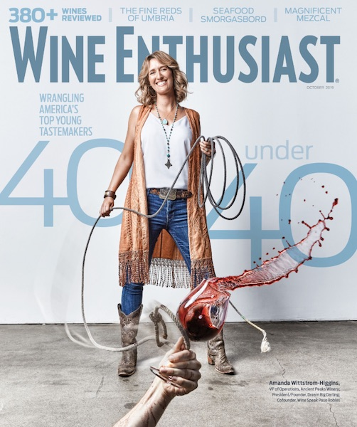 Amanda Wittstrom-Higgins of Ancient Peaks named in Wine Enthusiasts' 'Top 40 Under 40 Tastemakers'