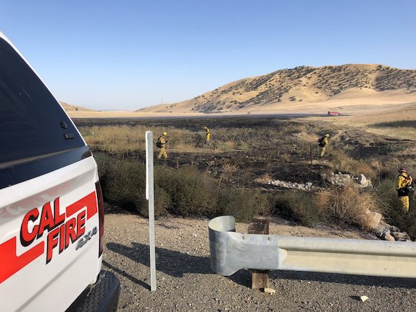 Firefighters control brush fire in Shandon at 10 acres