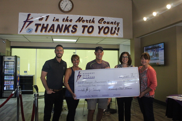 Kennedy Club Fitness members raise $1500 for hunger awareness
