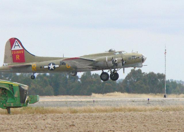 A B-17 bomber