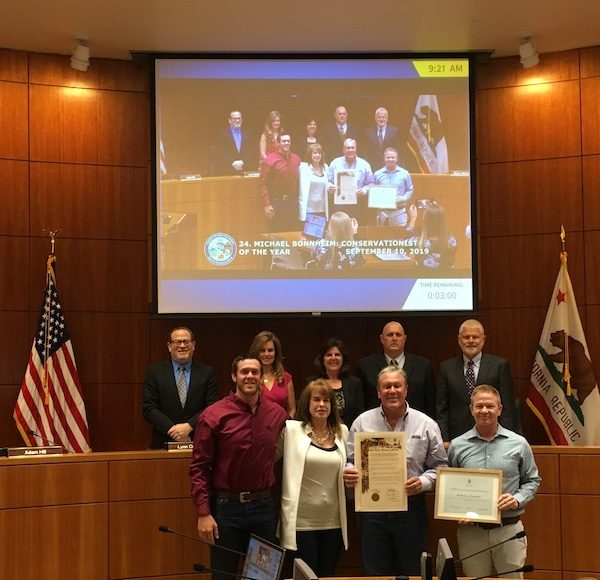 On Sept. 10, the San Luis Obispo County Board of Supervisors recognized Bonnheim for his distinguished contribution to natural resources conservation.