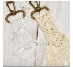 Create a boho macramé key chain at the library Dec. 7