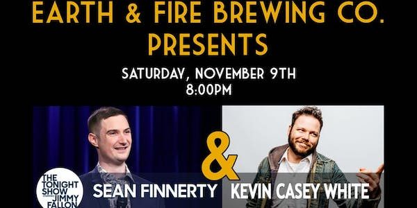 Irish-born comedian Sean Finnerty performing at Earth and Fire
