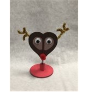 Make a reindeer photo holder at the library