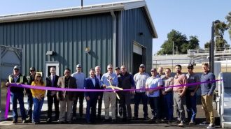 Ribbon-cutting celebrates completion of tertiary treatment plant