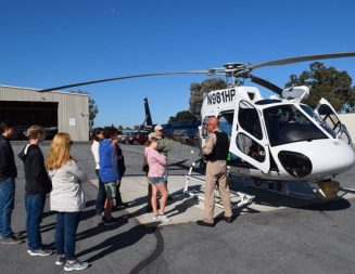 Estrella Warbirds Museum Aviation program introduces youth to CHP and CalFire air operations