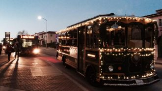 Holiday Trolley begins looping through downtown SLO