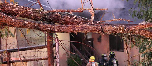 atascadero house fire from tree