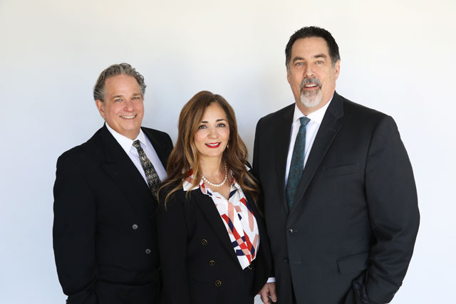 bank of sierra new staff Deric Hamilton, Shahla Gholami, Bill Nethercott.