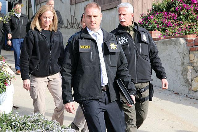FBI at Susan Flores home