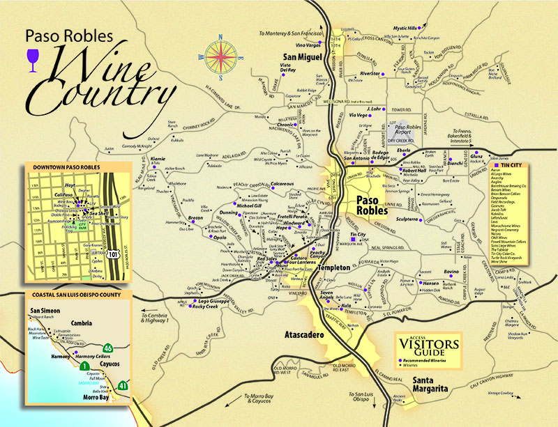 Paso Robles Wine Tasting Map - 2020-VG50