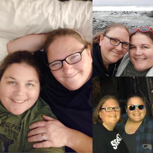 "Templeton Rec Supervisor, Melissa Johnson (glasses) and her wife of six years, Olivia ""Oli"" Sartain"