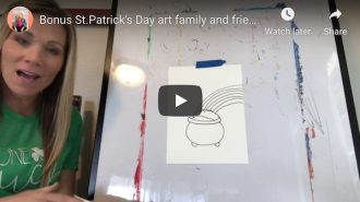 Elementary School teacher Stormy Capalare posting arts and crafts videos for kids