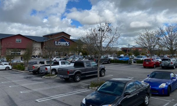 Lowes in Paso Robles looks busy