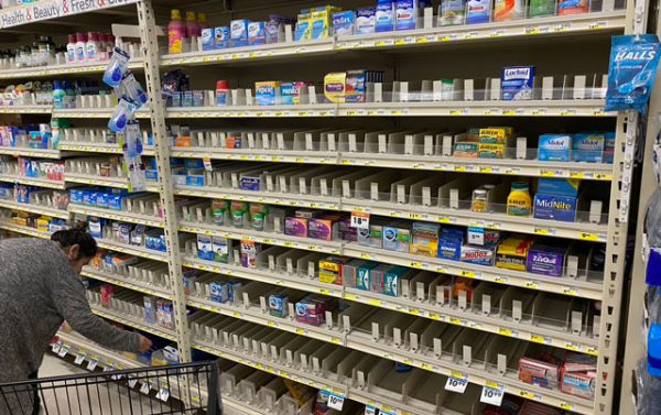 Some popular cold medicines were sold out at the Smart & Final on Golden Hill and Creston roads.