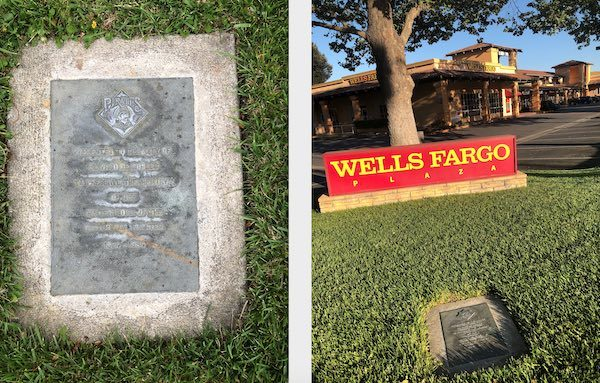 A plaque near Wells Fargo Bank commemorates the years the Pirates called Paso Robles their winter home