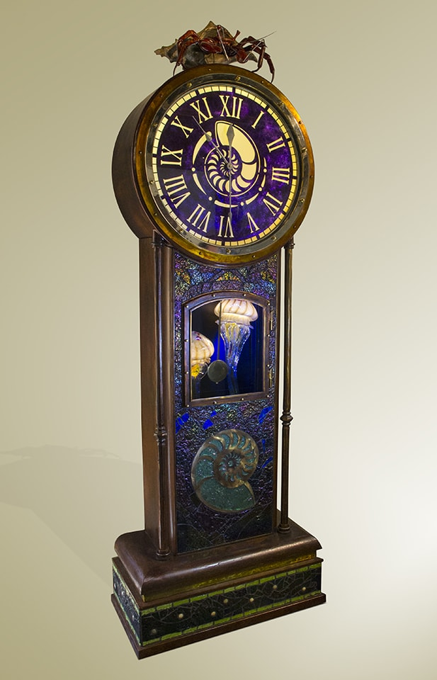 "Paso Robles artist Dale Evers latest creation, ""Not Your Grandfather's Clock""."