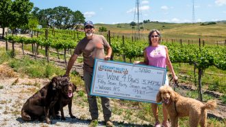 Pleasant Valley Wine Trail donates over $5k to Woods Humane