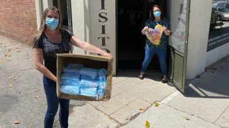 masks donated for local businesses