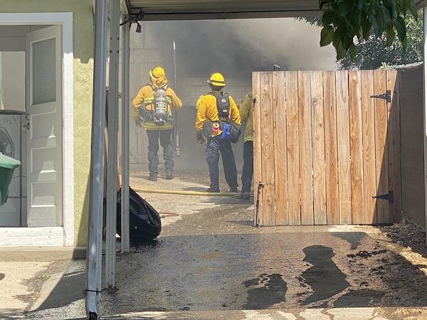 Fire in paso robles, ca