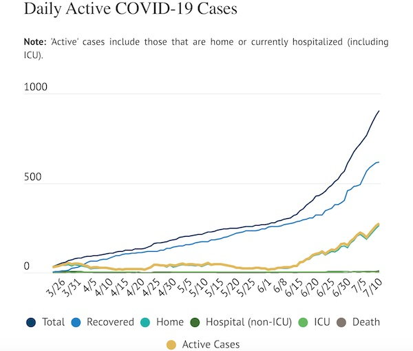 COVID-19 Update: 28 cases added Friday, 260 active cases reported in county