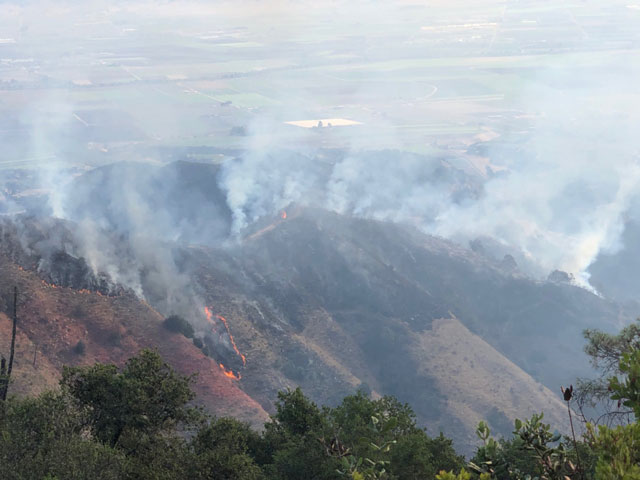 Hennessey Fire Forces Road Closures and Evacuations in Napa County, California