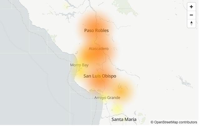 internet down in paso robles ca