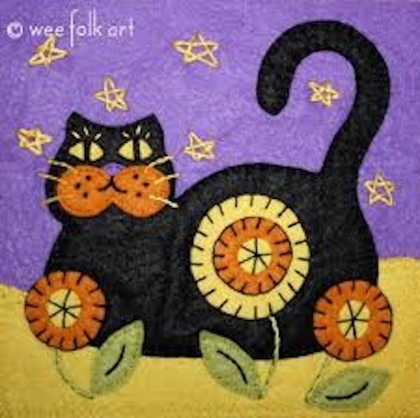 Paso Robles Halloween 2020 Make a Halloween themed black cat applique just in time for