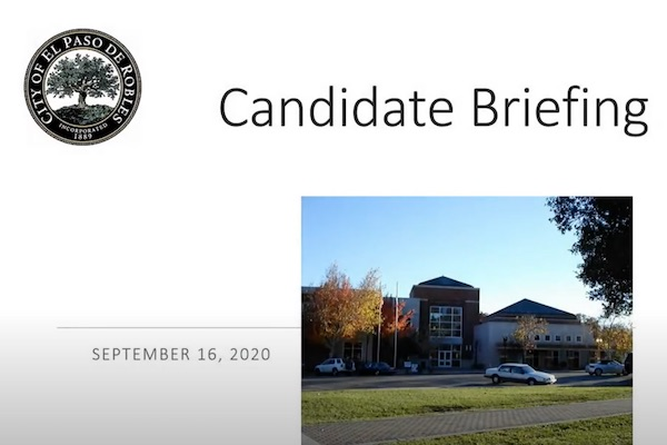 Virtual council candidate briefing available for public viewing