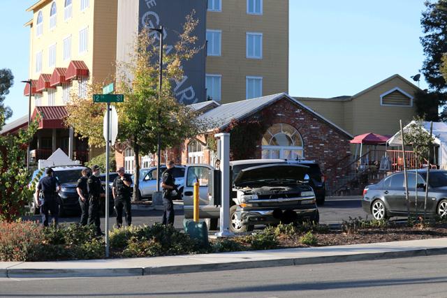 police on scene of dead body