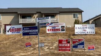 Political campaign signs in paso robles, ca