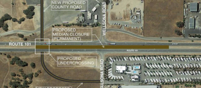 plan for an underpass at Highway 101 and Wellsona Road