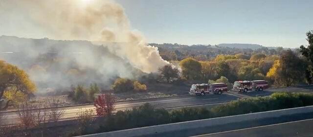 riverbed fire by Niblick Road