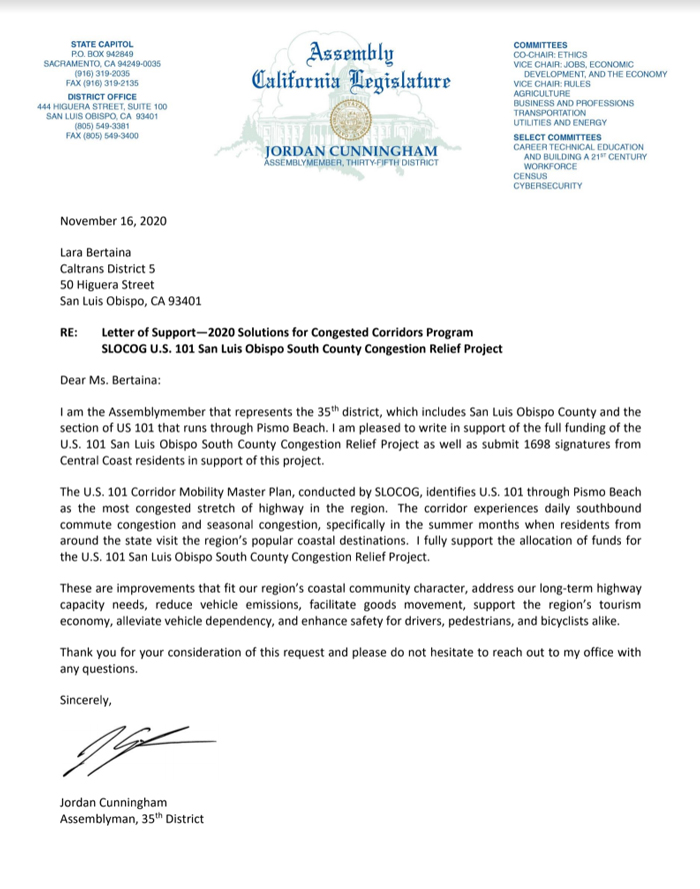 Letter-to-CalTrans-about-Pismo-Beach-traffic-backup