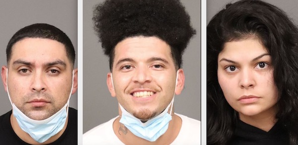 Three arrested for vehicle burglaries, parole violations