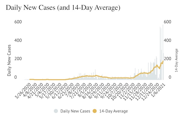 Daily new cases covid slo